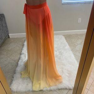 Swimsuit Coverup Sheer Skirt